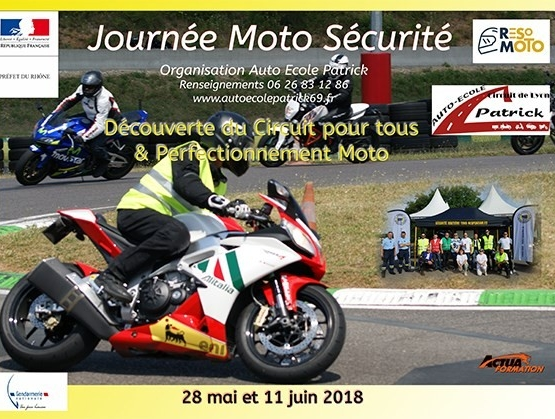 JOURNEES MOTO SECURITE ROUTIERE MOTO ECOLE PATRICK LIMONEST LISSIEU  resomotosécurité